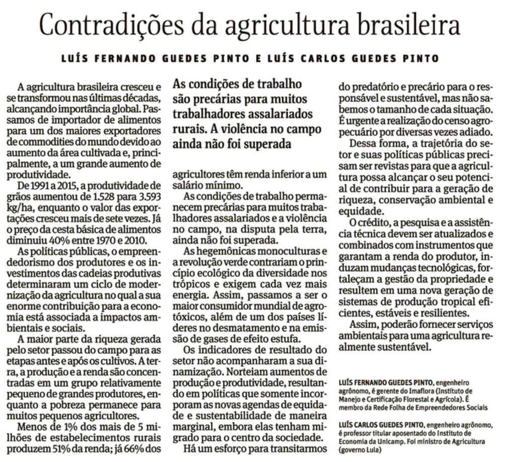 Análise da agropecuária brasileira convida à reflexão sobre as contradições no campo