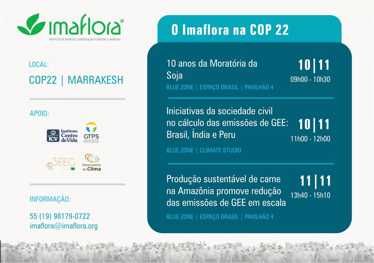 O Imaflora na COP 22