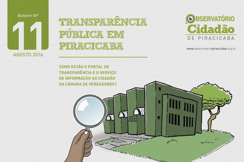 Avaliação do Observatório Cidadão de Piracicaba mostra avanço da transparência da Câmara