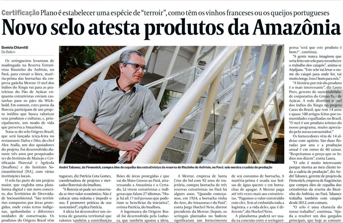 Novo selo atesta produtos da Amazônia