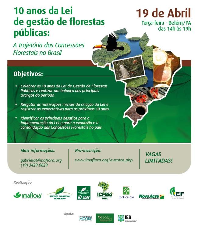 Evento de 10 anos da Lei de Gestão de Florestas Públicas: A trajetória das concessões florestais no Brasil