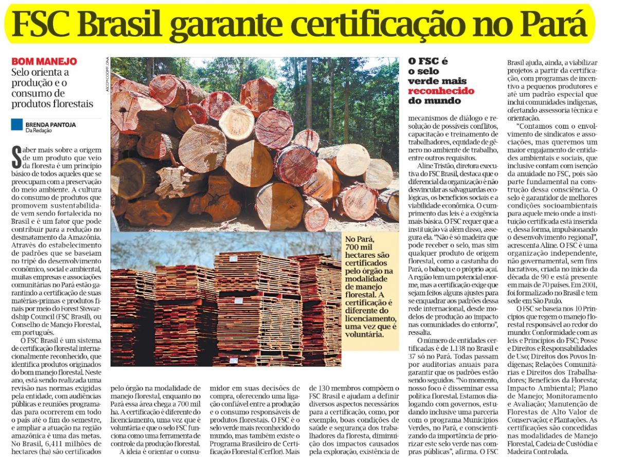 FSC Brasil garante certificação no Pará