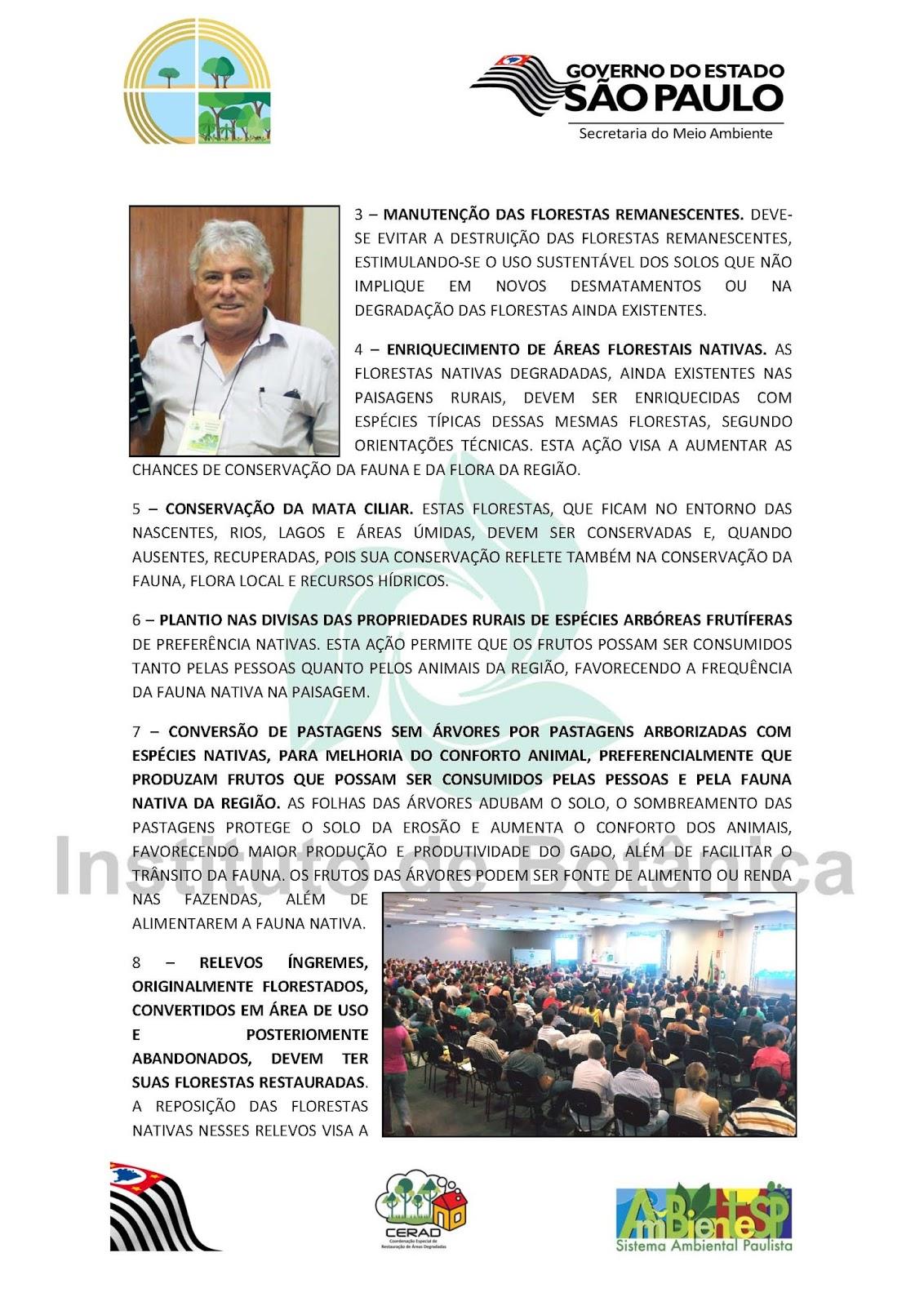 Carta da comunidade científica do VI Simpósio de Restauração Ecológica à população