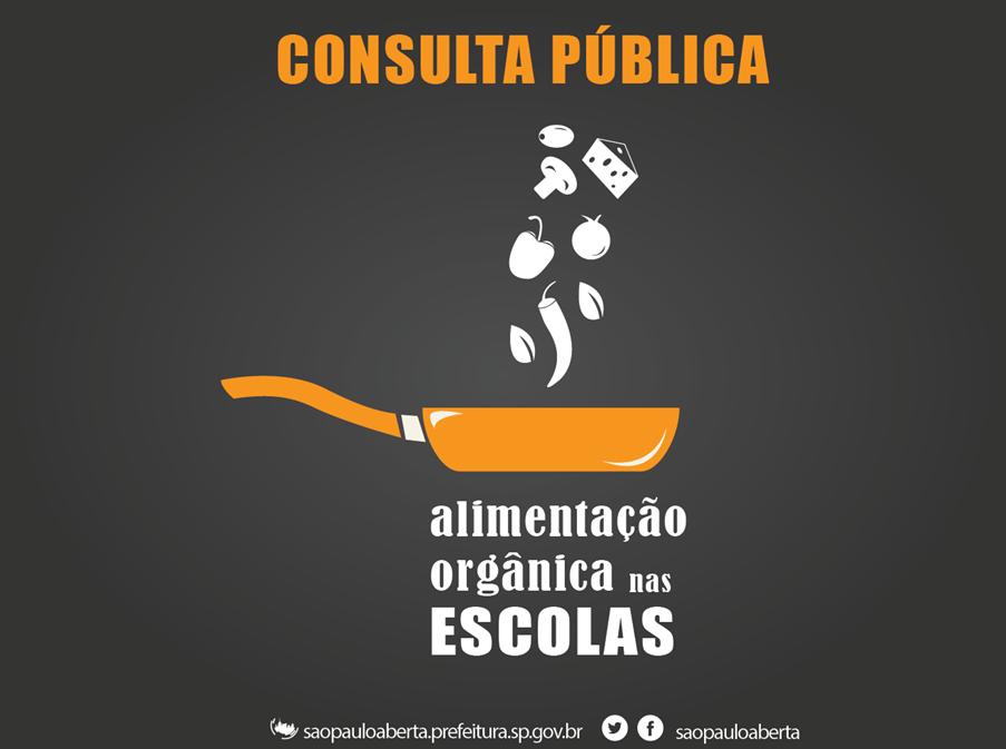 Consulta pública para incluir alimentação orgânica nas escolas