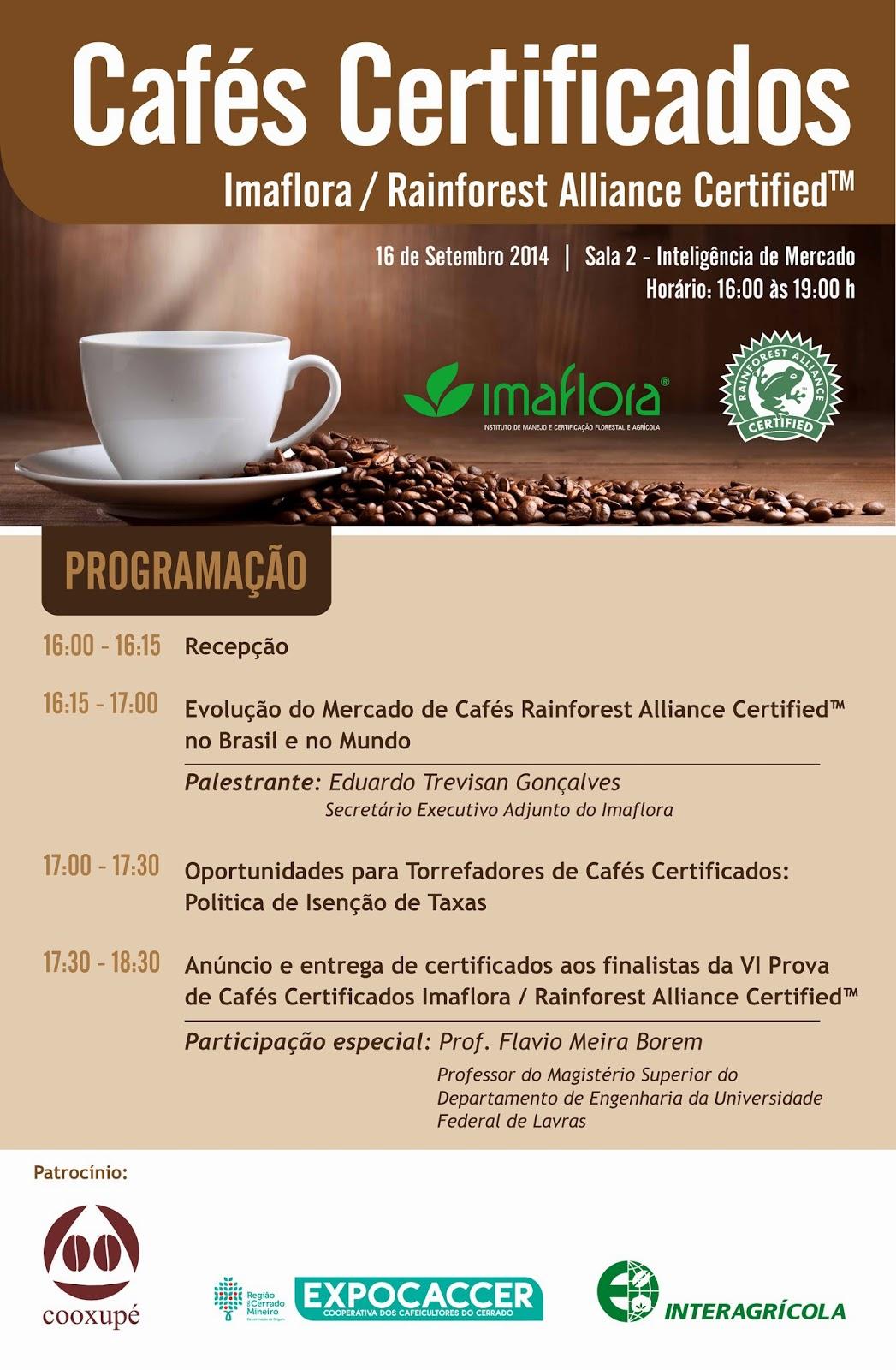 Convidamos você a participar conosco no 9º Espaço Café Brasil,  de 15 a 18 de setembro de 2014 em Belo Horizonte, MG