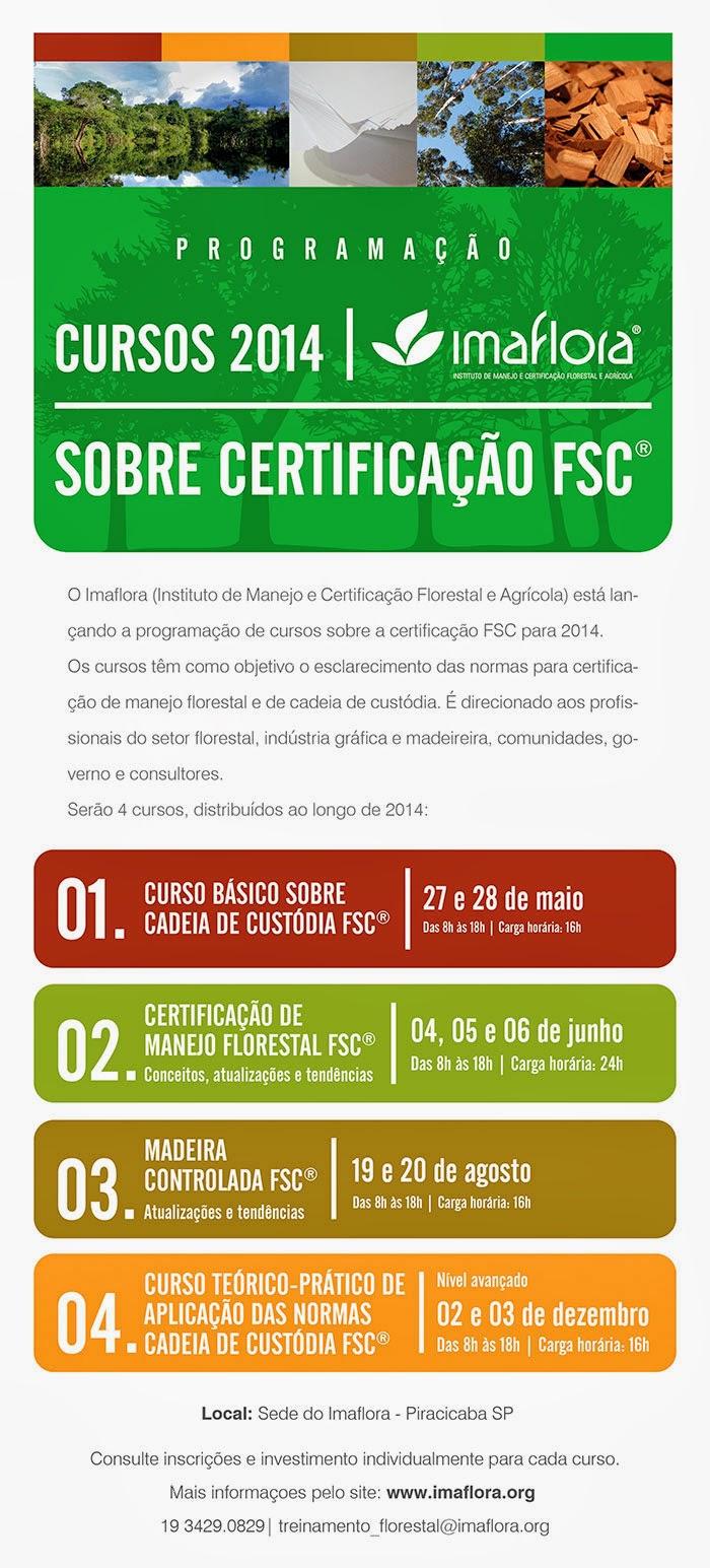 Confira a programação dos cursos sobre certificação FSC® 2014