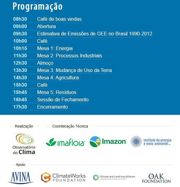 Seminário Emissões Brasileiras de Gases do Efeito Estufa