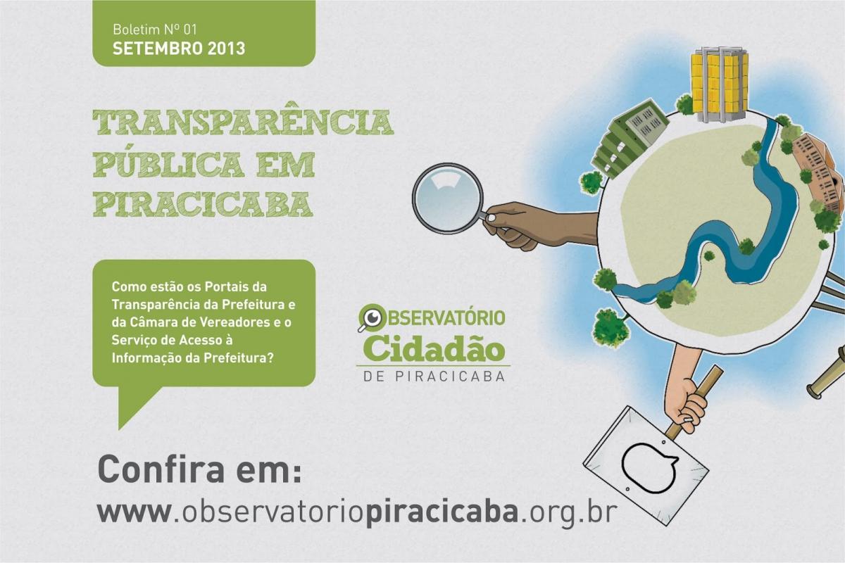 Já está no ar o 1º Boletim de Transparência Pública de Piracicaba