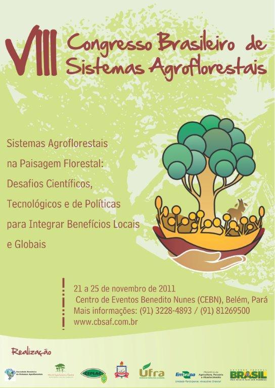 VIII Congresso Brasileiro de Sistemas Agroflorestais (CBSAF)
